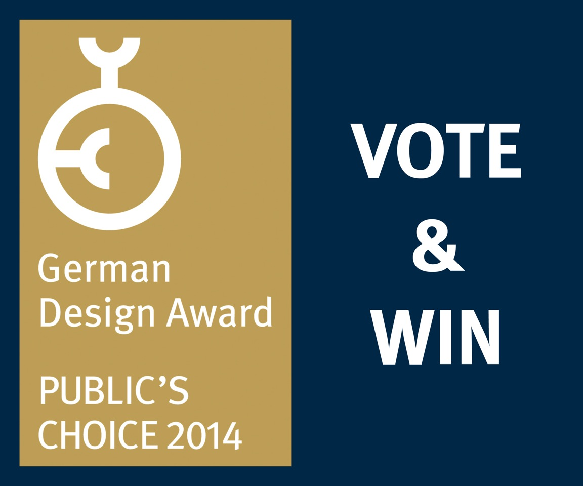 German Design Award 2014: Publikumspreis abstimmen